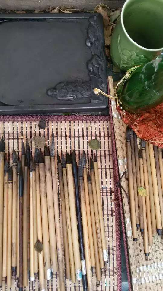 The careful selection of calligraphybrushes