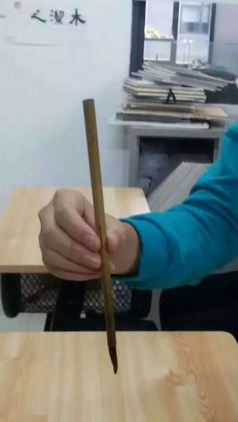 holding brush